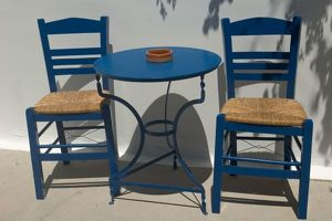 cafe tables chairs/europe greece dodecanese islands kos table