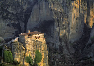 landscape/europe greece meteora christian monastery atop