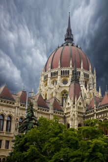 Europe, Hungary, Budapest. Composite of Parliament Building