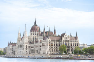 Europe, Hungary, Budapest, Parliament building, Danube River