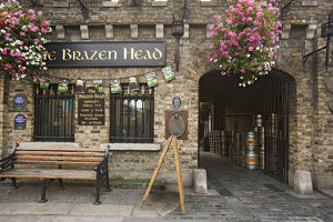 Europe, Ireland, Dublin. Exterior of Brazen Head pub, established in 1198 AD. Credit as