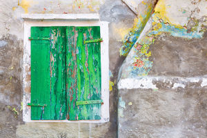 architecture/europe italy burano close up weathered window