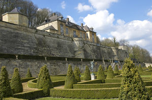 Europe, Netherlands, Limburg, Maastricht, Chateau Neercaane, terraced castle, UNESCO site