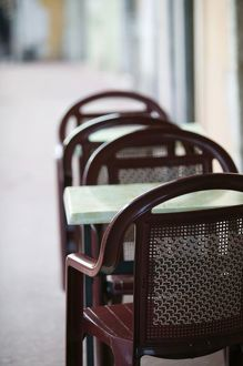 cafe tables chairs/france french alps haute savoie annecy cafe