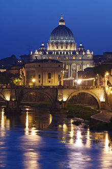 architecture/italy rome st peters basilica tiber river