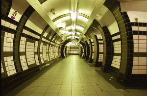 London, England. An empty night in the underground stations