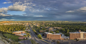 places/looking rimrocks billings montana usa