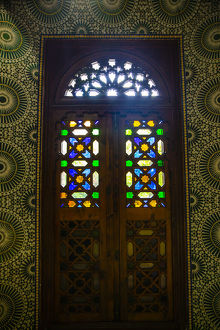 architecture/marrakech morocco moroccan stained glass wooden