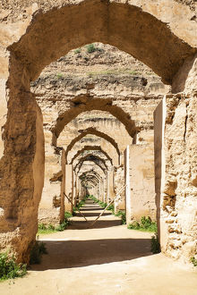 architecture/meknes morocco stone archways royal stables