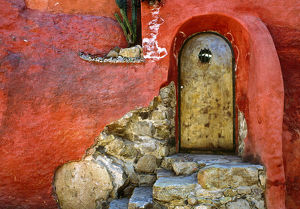 architecture/mexico san miguel allende weathered house door