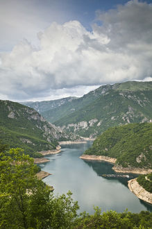 MONTENEGRO, Durmitor National Park. View of Lake Pivsko