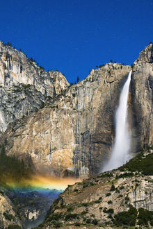 landscape/moonbow starry sky yosemite falls yosemite national