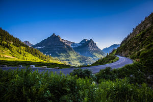usa/mountain pass continental divide glacier national