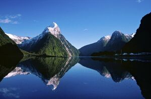 New Zealand, Mitre Peak, Milford Sound, Fiordland National Park