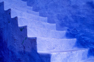 architecture/north africa morocco chefchaouen blue stairs