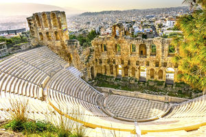 cityscapes/odeon herodes atticus athens greece stone theater