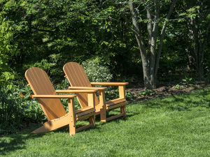 usa/pair adirondack chairs garden
