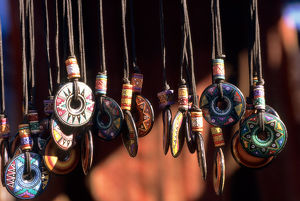 Peru. Hand painted ceramic pendants