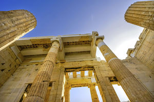 cityscapes/propylaea ancient entrance gateway ruins acropolis