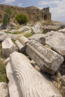 Ruins of the ancient Hierapolis, Pamukkale, Turkey