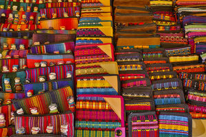 architecture/san miguel allende mexico colorful cloth display