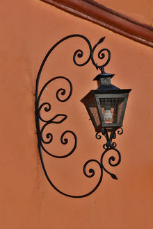 architecture/san miguel allende mexico lantern shadow colorful