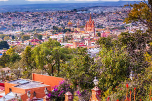 San Miguel de Allende, Mexico, Miramar Overlook Parroquia Archangel Church Wide