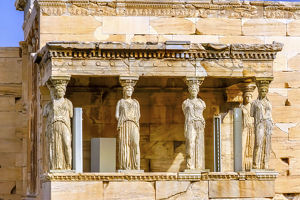 cityscapes/temple erechtheion acropolis athens greece