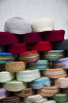 Tunisia, Tunis, Medina, Grand Souq des Chechias, Chechia or Fez hats