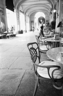 Turin Italy, Cafe and Archway