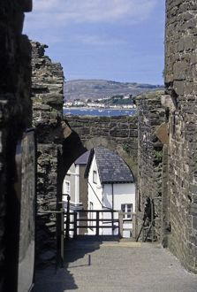 United Kingdom, Wales, Conwy. Conwy Castle, a UNESCO World Heritage Site, one of the Castles