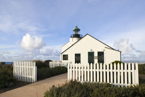 USA, California, San Diego. Old Point Loma Lighthouse, b. 1854