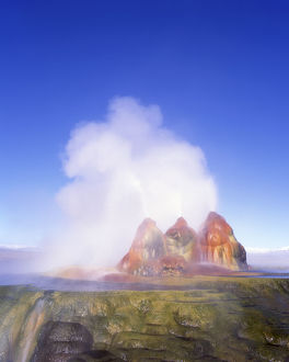 places/usa nevada geyser hot springs travertine cones