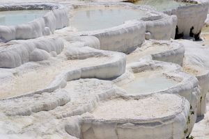 View of the travertine rocks, Pamukkale (ancient Hierapolis), Turkey