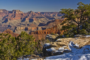 vista, from Mather Point, South Rim, Grand Canyon National Park, Arizona, USA
