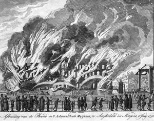 Explosion and fire at the Admiralty Magazine, Amsterdam