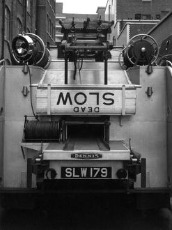 LFB Dennis F101 appliance with hose ramps