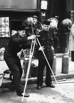 London Fire Brigade photographer, Barbican, London