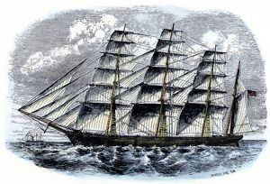 American clipper ship 'Great Republic'