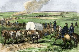 US Army expedition on the prairie, 1850s