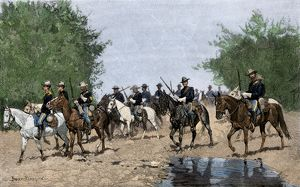 US Army pursuing the Nez Perce, 1870s
