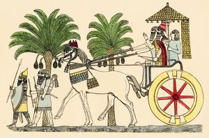 Assyrian king in his chariot