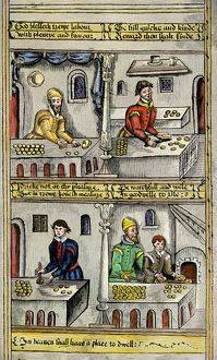 Bakers at their trade in the late Middle Ages