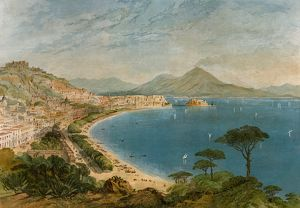 Bay of Naples, Italy, 1800s
