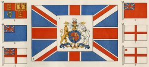 British flags and coat of arms