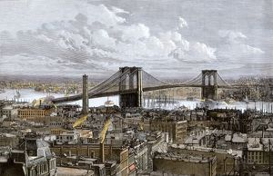Brooklyn Bridge, New York City, 1883