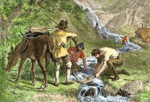 California Gold Rush prospectors
