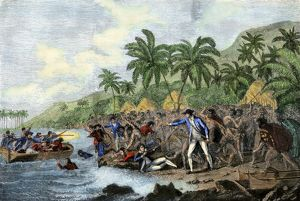 Captain Cook killed by Hawaiian natives, 1779