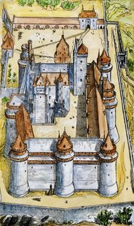 Castle of Pierrefonds, medieval France