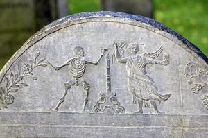 Colonial gravestone in Boston, Massachusetts